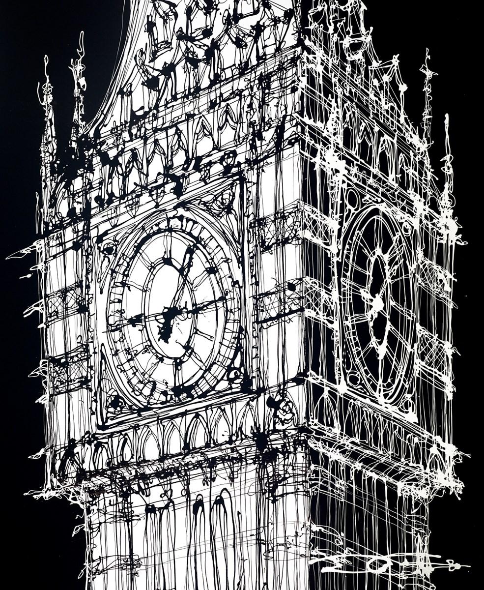 Elizabeth Tower, Nightfall